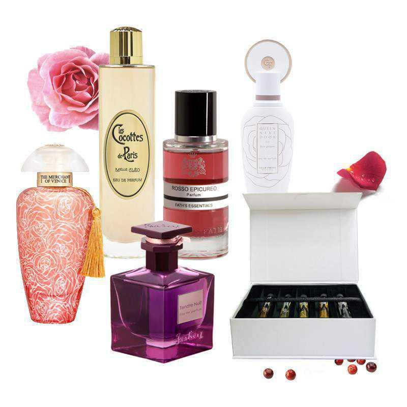 Perfume Discovery Set L'Apothiquaire Artisan Beaute A Queen's Scent: Rose Fragrances Collection