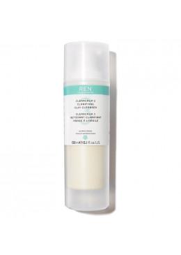 Làm Sạch REN Sữa Rửa Mặt Kháng Khuẩn Cho Da Nhờn Mụn ClearCalm3 Clarifying Clay Cleanser 150ml